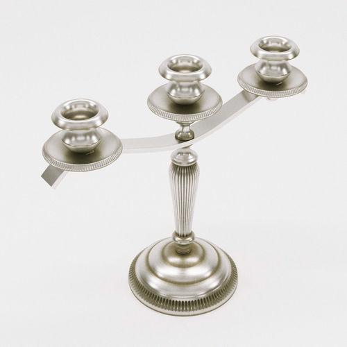 candelabra - art deco 1920 - france 3d model max obj mtl fbx pdf 1