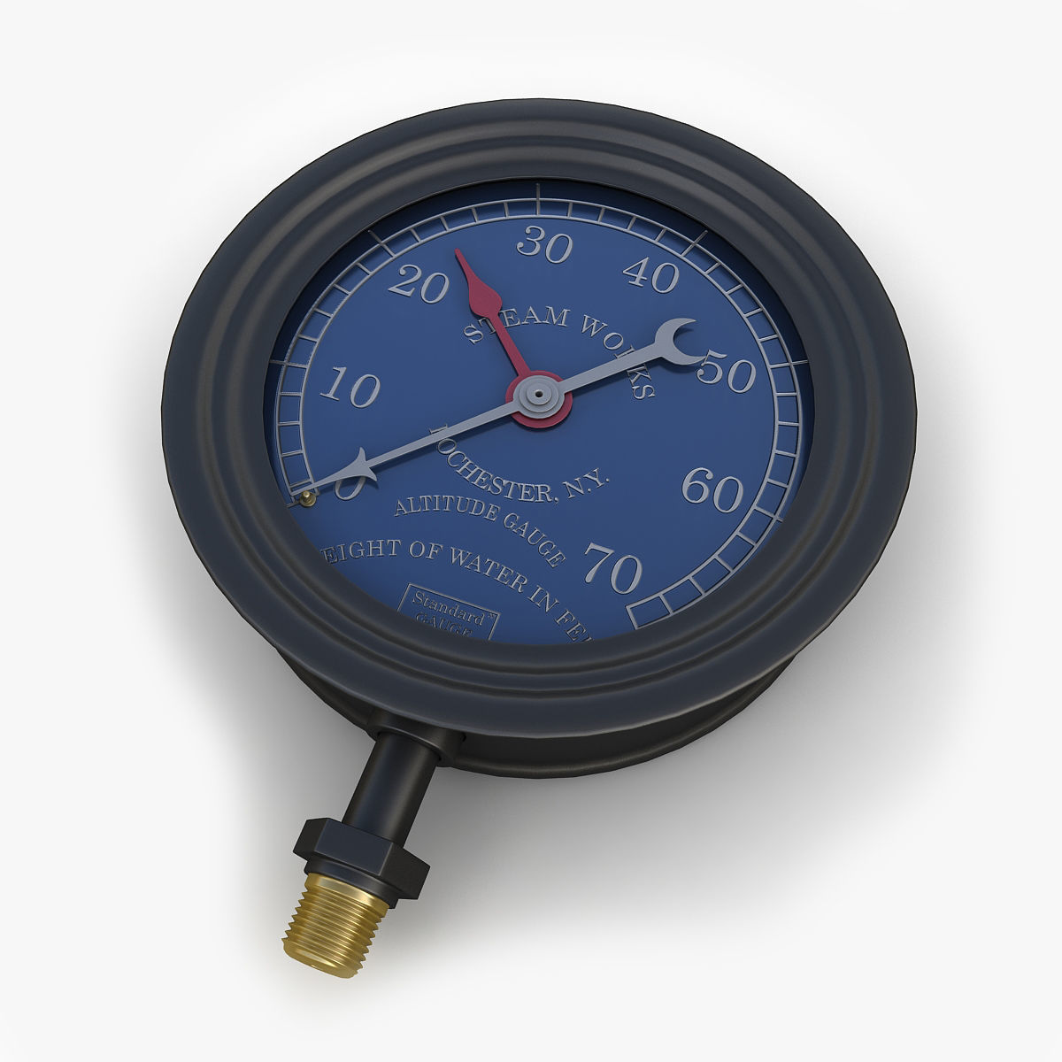 Vintage large steam pressure gauge 2