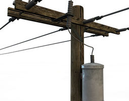 Telephone Pole old 3D model