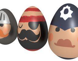 Easter Eggs kit - volume 1 3D asset game-ready