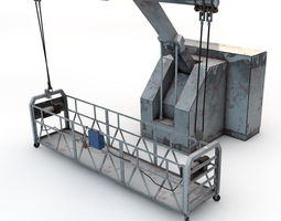 rooftop Window Cleaner Platform 3D
