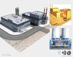 Paper Factory Low Poly PBR 3D asset