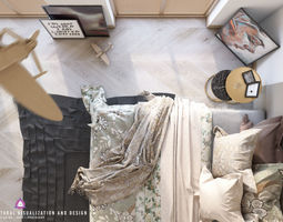 viz BED ROOM 3D