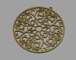 Lace pendant 3D printable model