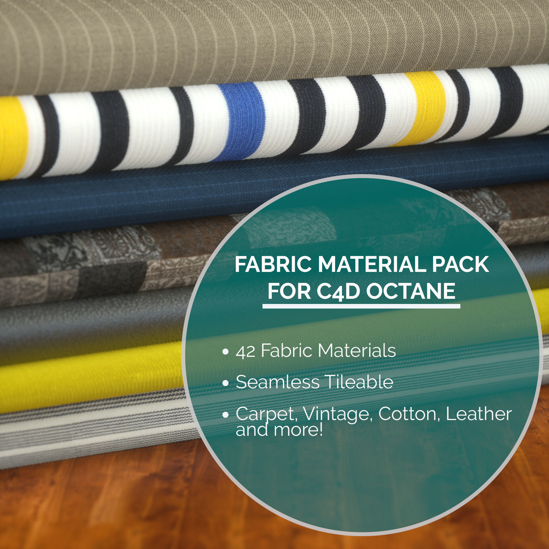 42 Fabric Materials for C4D Octane | Texture
