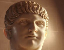 3D A bust of Roman Emperor Nero