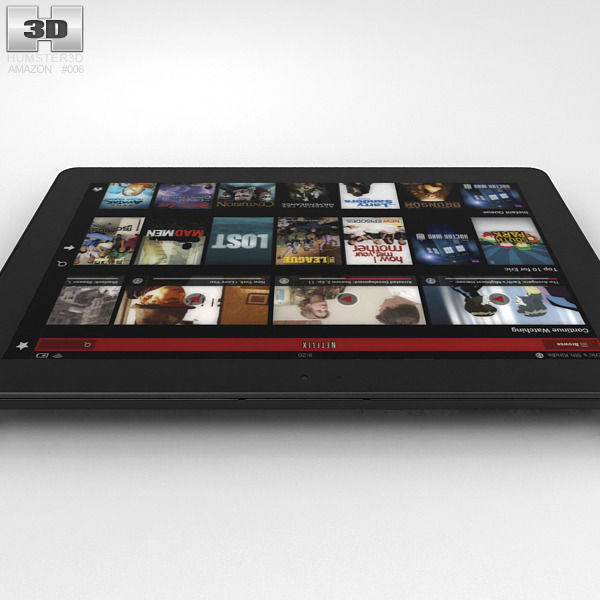 amazon kindle fire hdx 8 9 inches 3d cgtrader