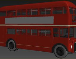 low-poly Transport Bus 3D model mobistore