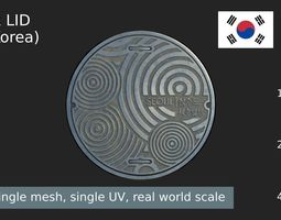 South Korea sewer lid 3D asset