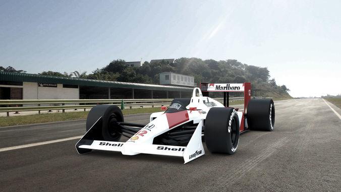 classic formula one mclaren 3d model blend 1