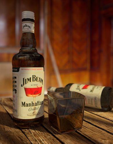 jim beam whiskey 3d model blend 1