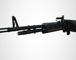 M60 Military Heavy Weapon 3D model
