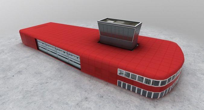 lfmn fire station 3d model low-poly max obj mtl 3ds fbx 1