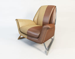 3D model POLTRONA FRAU Luft armchair By Walter Maria De