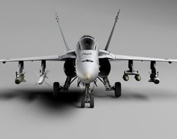 3D asset McDonnell Douglas FA-18 Hornet