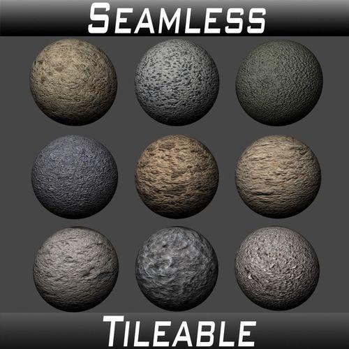 concrete textures pack 4 3d model  1