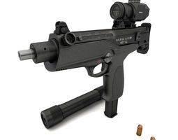 submachine gun AEK-919K Kashtan 3D