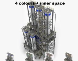 Industrial loading silo 03 3D model