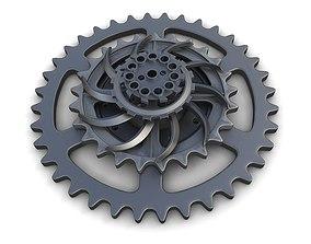 Steampunk Gears Set 01 3D model