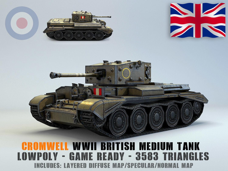 Low Poly Cromwell medium tank