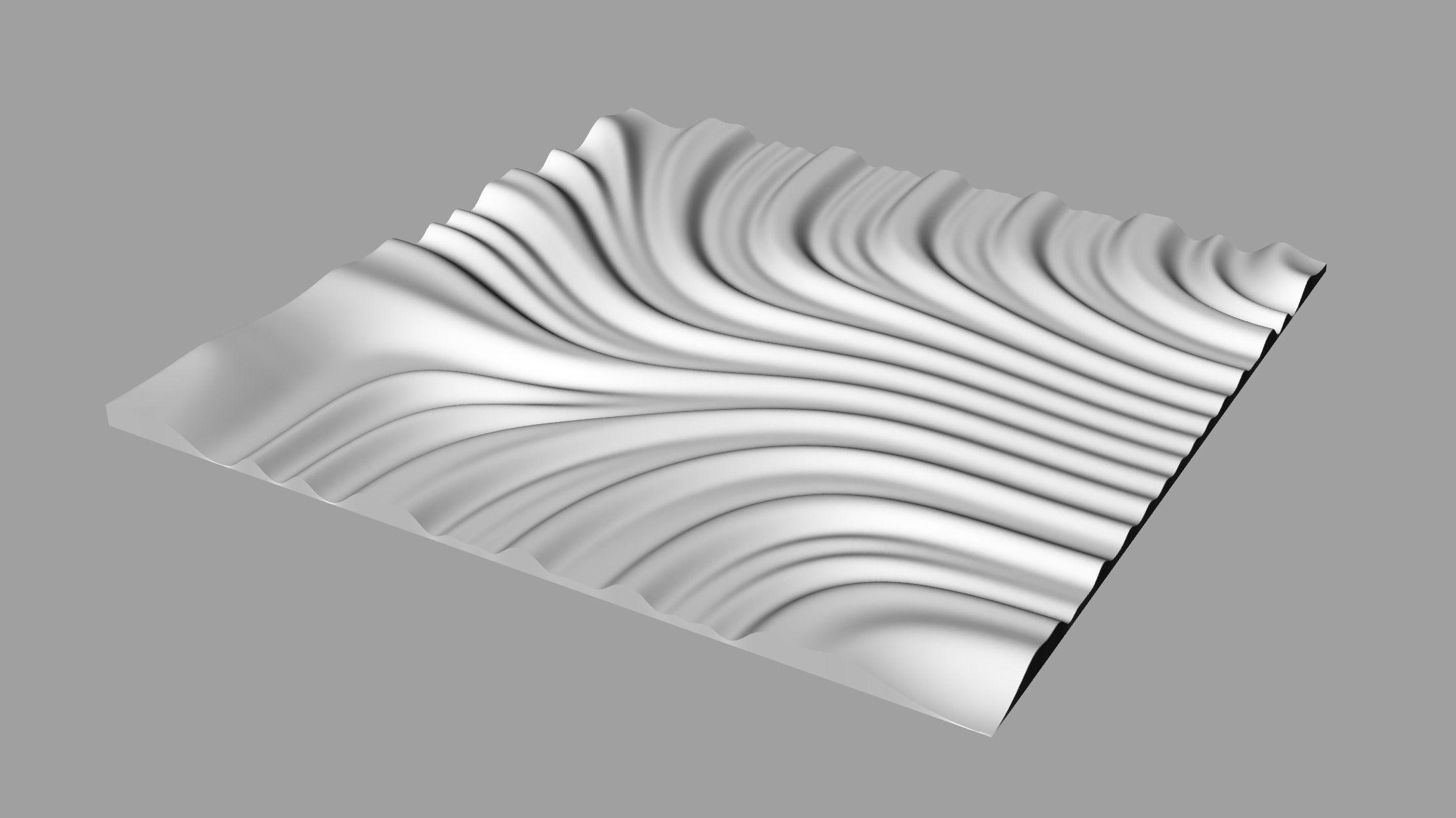 Tileable 3d Relief Sb27 For Cnc 3d Model 3d Printable Obj