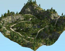 3D model Rough path in Blender