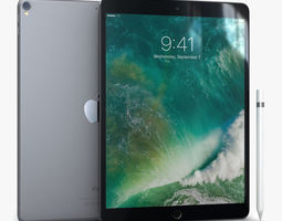 iPad Pro 10-5 2017 Space Gray with 3D model