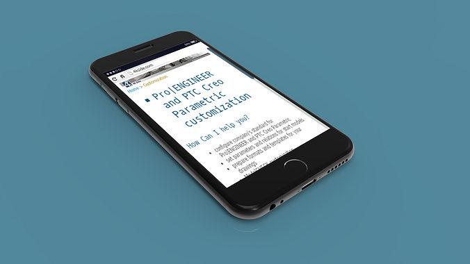 iphone 6 - original dimensions 3d model max stl ige igs iges stp 1