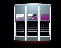 shop shelves multicolor 3d model