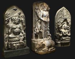 3D asset Hindu Statue