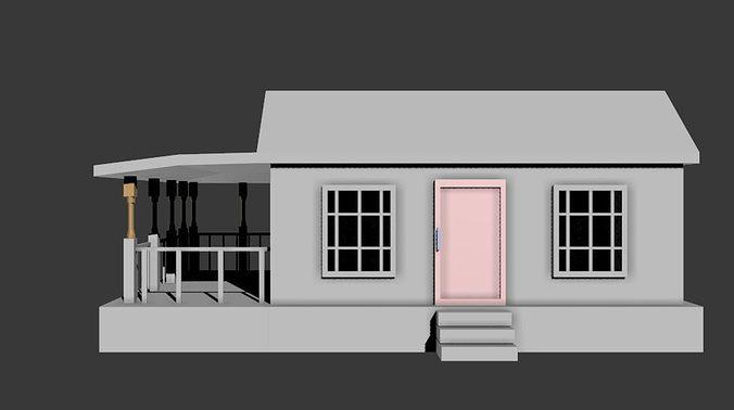 Simple House 3d Model Fbx 7