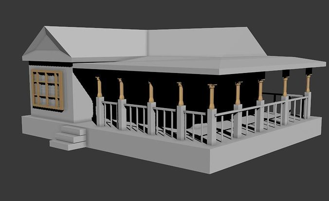 Simple house 3d model cgtrader for Simple home model