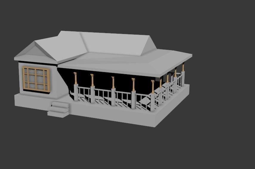 Simple House 3d Model Fbx
