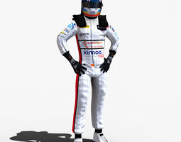Alonso Daytona 2018 3D model