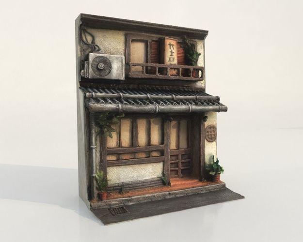 - japanese house facade - 3d model max obj mtl fbx 1