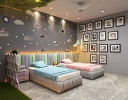 architecture Children Bedroom 3D model