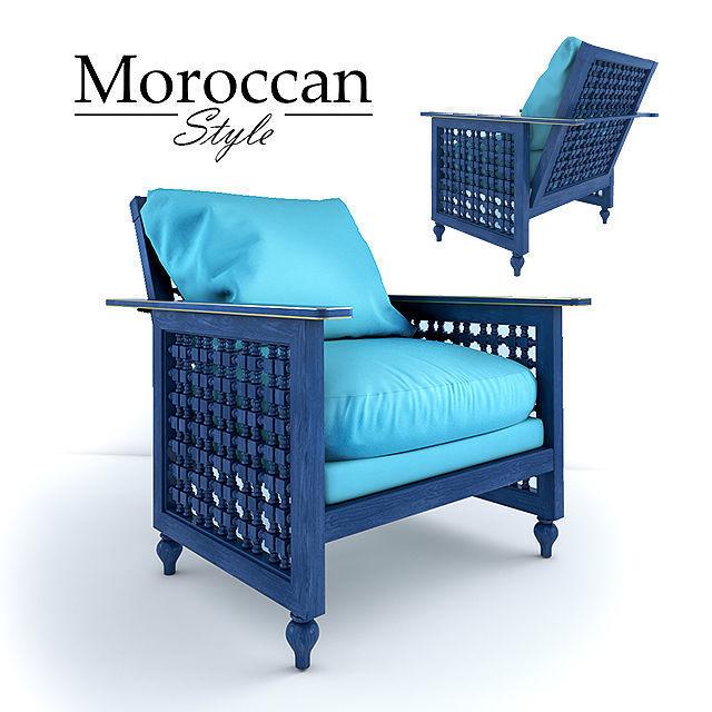 Charmant Moroccan Chair 3d Model Max Obj Mtl 1 ...