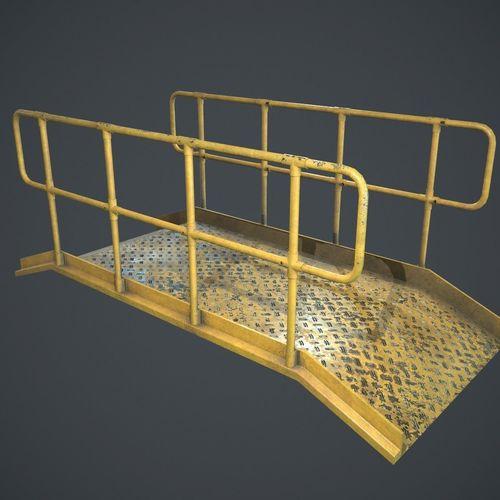industrial platform pbr  3d model low-poly max fbx ma mb 1