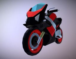 game-ready Motorcycle 3D Lowpoly
