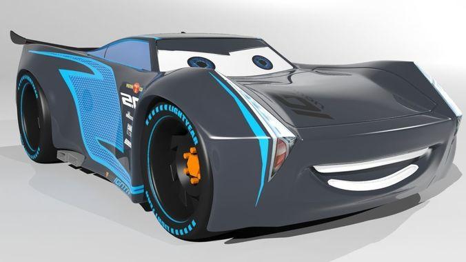 jackson storm cars 3 model vr  ar ready  cgtrader