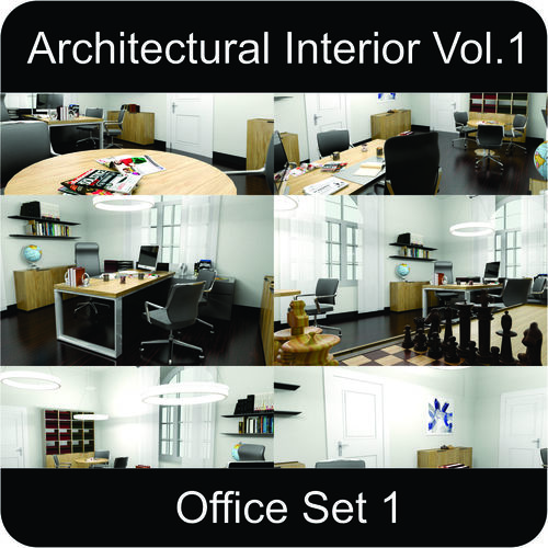 office architectural interior vol-1 3d model low-poly max obj 3ds fbx mtl gsm 1