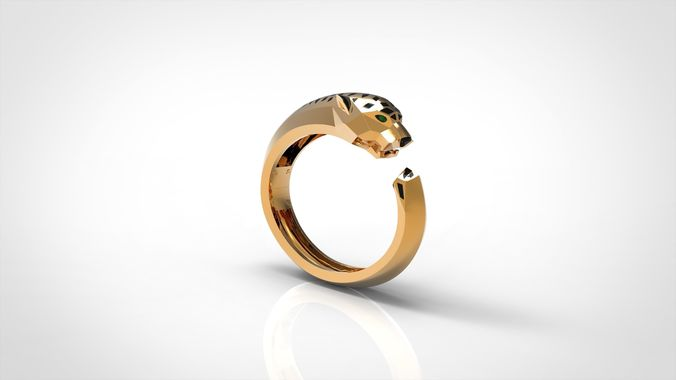 panther animal bracelets 3d model stl 3dm 1