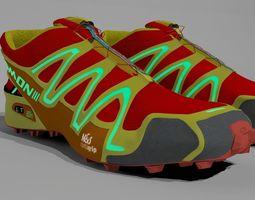 3D model Salomon Speedcross3 Running Shoes for Characters