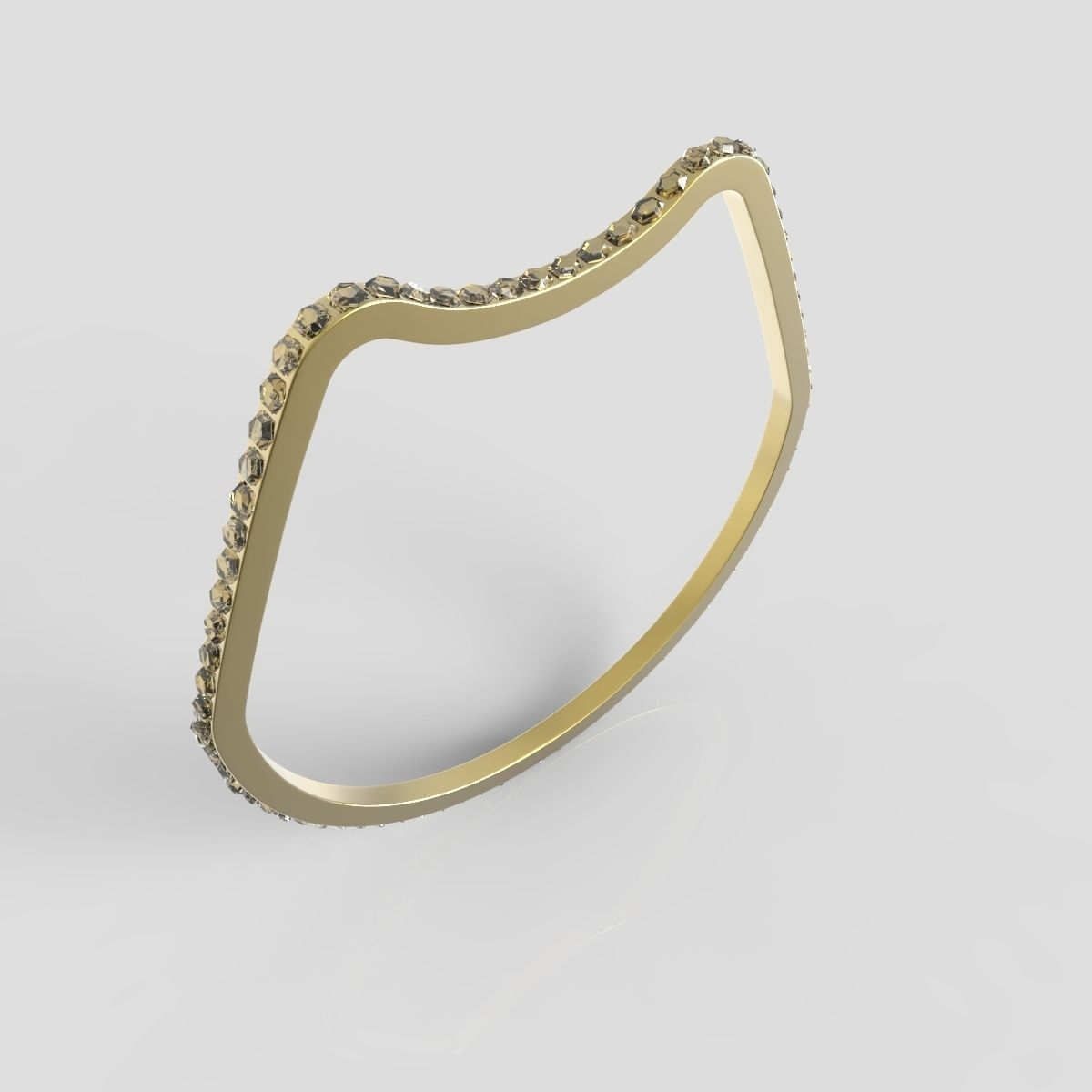 Gold ring 01 free 3d model 3d printable obj stl cgtradercom for Gold ring models with letters