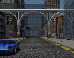 Architecture City Scene 3D asset