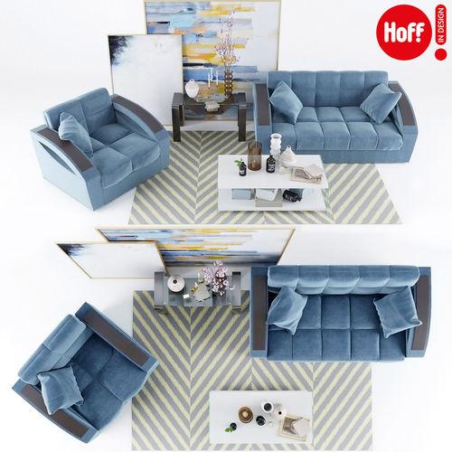 sofa armchair monreal hoff picture decor 3d model max obj mtl 1
