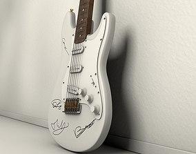 3D asset Autographed Guitar