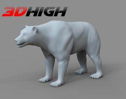 3D Bear Base Mesh