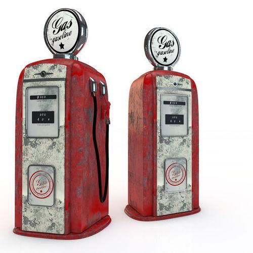 vintage gas pump 3d model obj mtl 3ds c4d 1