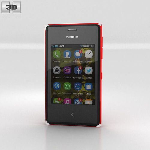 nokia asha 500 3d model max obj 3ds fbx c4d lwo lw lws 1